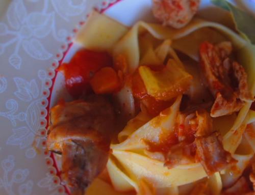 Pappardelle, Coniglio e Rosolio di Finocchietto